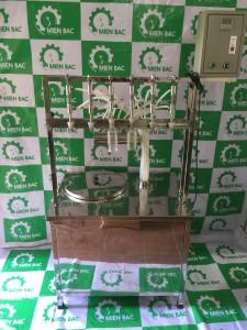Máy chiết rót dung dịch 6 vòi bán tự động